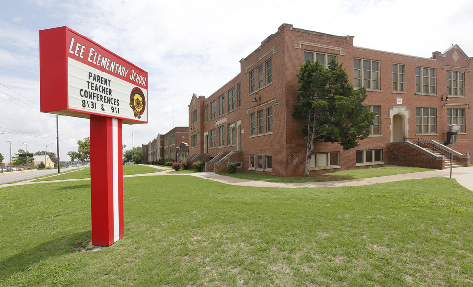 Photo -  Lee Elementary is one of four schools in the Oklahoma City district named after Confederate generals. [Photo by Paul Hellstern, The Oklahoman]