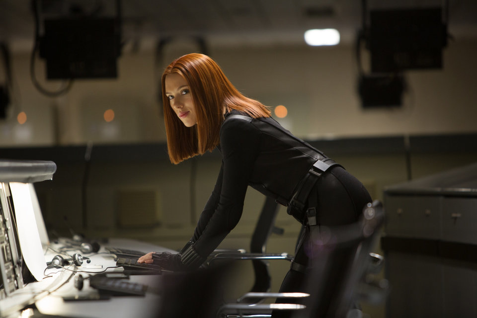 Photo - This image released by Marvel shows Scarlett Johansson in a scene from