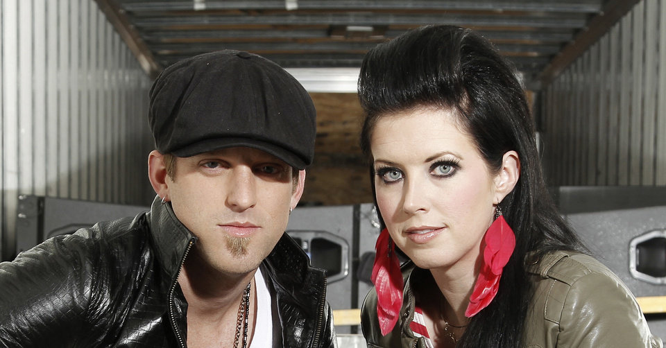 Photo - In this Oct. 27, 2011 photo, musicians Keifer Thompson, who hails from Miami, OK, and wife Shawna Thompson, who perform as the country duo Thompson Square, pose for a portrait in Los Angeles.  (AP Photo/Matt Sayles)  Matt Sayles - AP