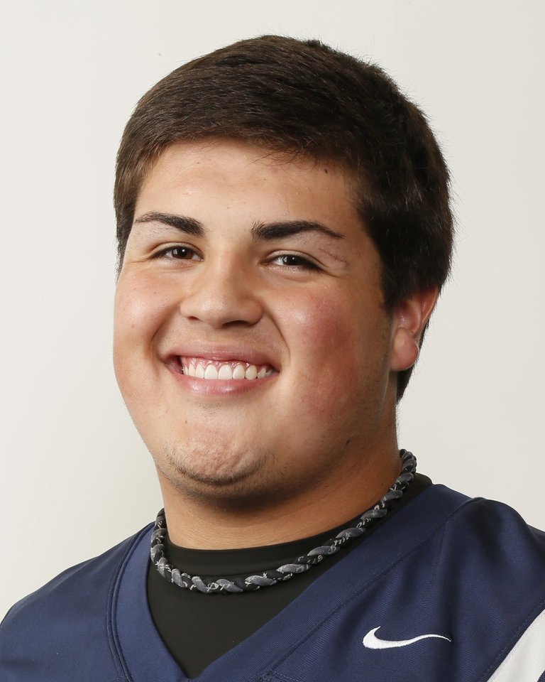 Photo - Heath Newland, Edmond North football player, poses for a mug shot during The Oklahoman's Fall High School Sports Photo Day in Oklahoma City, Wednesday, Aug. 15, 2012. Photo by Nate Billings, The Oklahoman