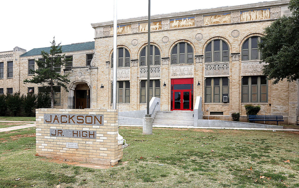 Photo - This is Jackson Middle School at 2601 S. Villa in Oklahoma City, OK, Friday, October 18, 2013,  Photo by Paul Hellstern, The Oklahoman