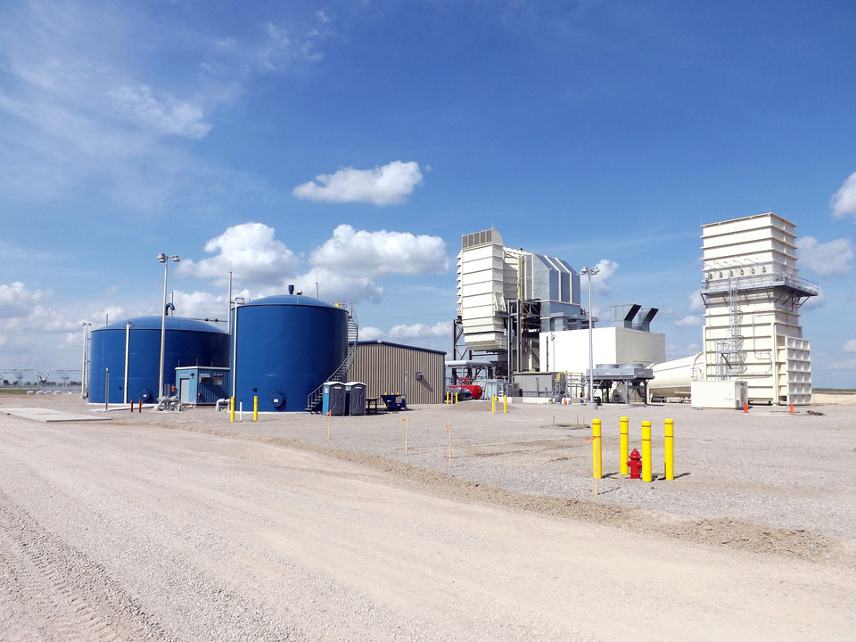 Photo -  The Charles D. Lamb Energy Center is a 103-megawatt natural gas plant near Ponca City. The plant is owned and operated by the Oklahoma Municipal Power Authority and came online in May. [Photo provided]