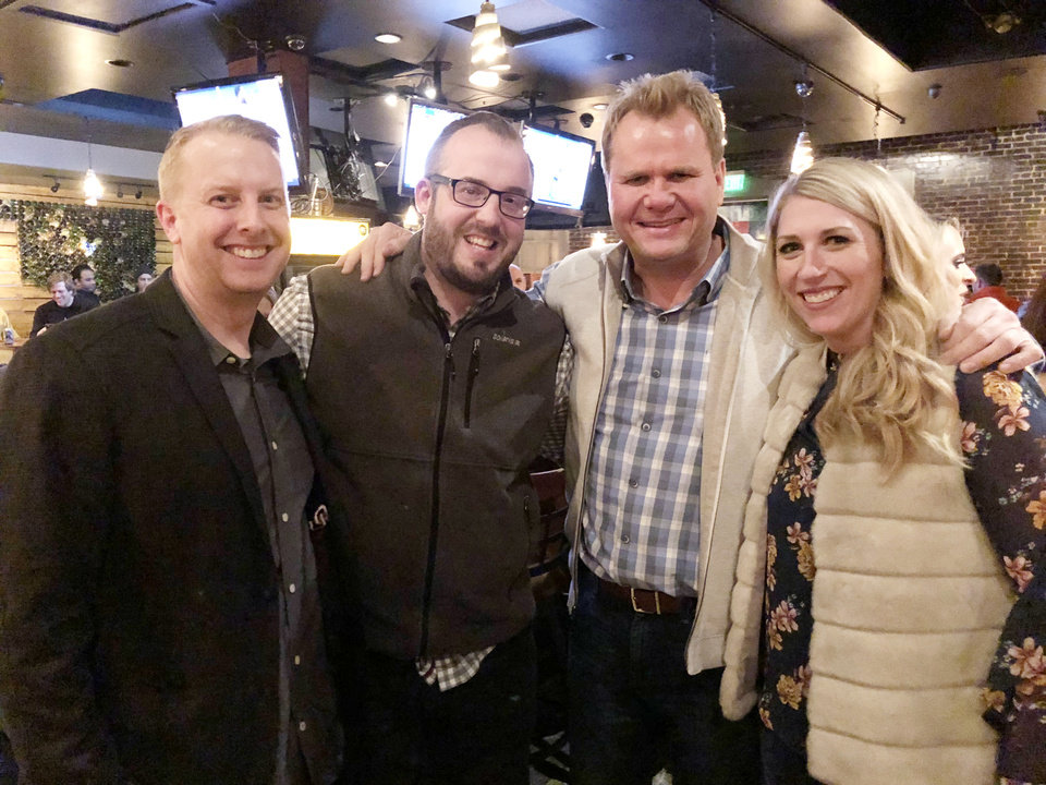 Photo - Ross Cash, James Kraham, Scott Tallent, Kristin Kraham. PHOTO PROVIDED