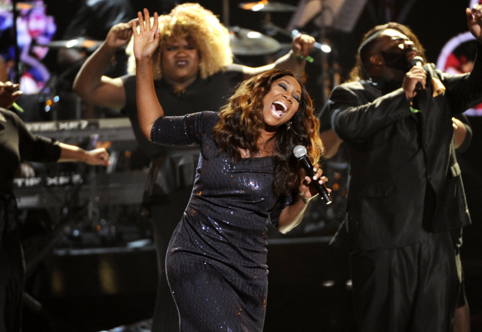 Photo - Yolanda Adams performs at the BET Awards at the Nokia Theatre on Sunday, June 29, 2014, in Los Angeles. (Photo by Chris Pizzello/Invision/AP)