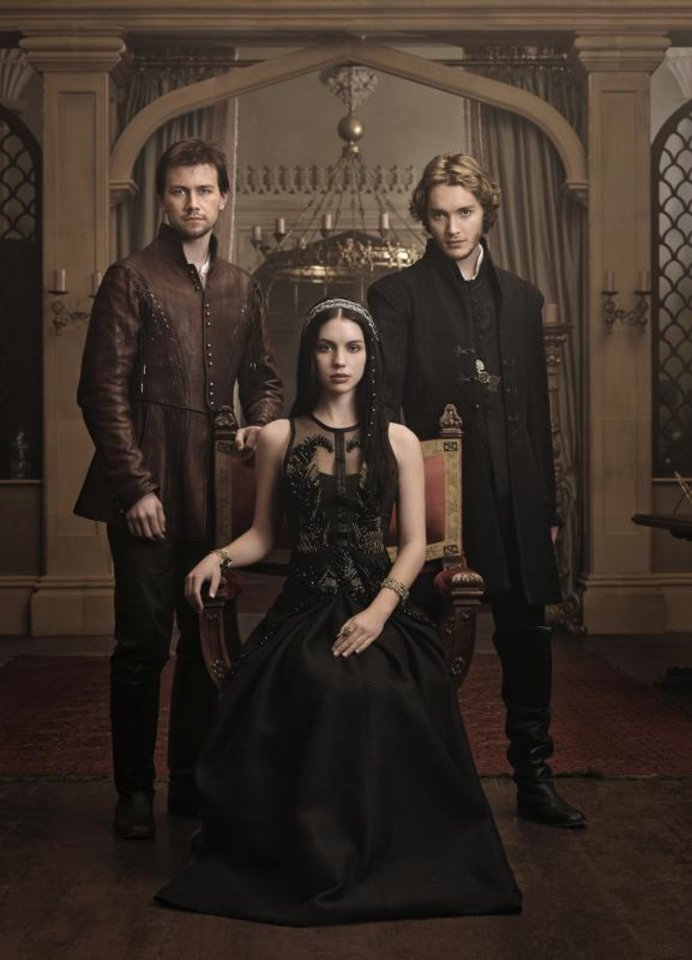 """Photo -  """"REIGN"""":  (L-R): Torrance Coombs as Bash, Adelaide Kane as Mary, Queen of Scots, and Toby Regbo as Prince Francis -- Photo: Mathieu Young/The CW -- © 2013 The CW Network, LLC. All rights reserved."""