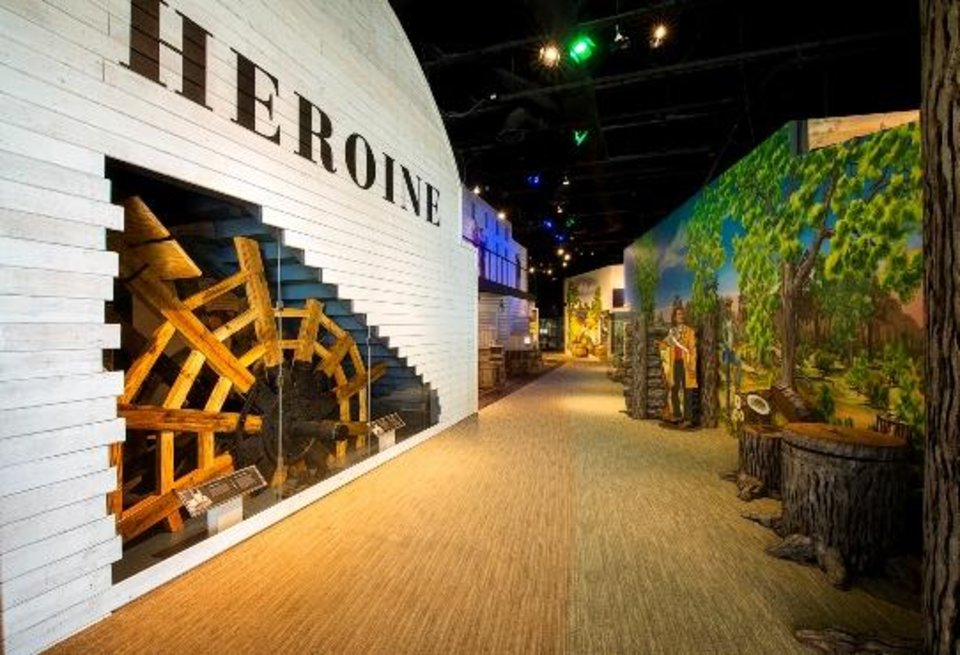 Photo -  The Oklahoma History Center opens Wednesday a new exhibit recreating the Steamboat Heroine, an 1830s side-wheel paddleboat that sank in the Red River near Hugo.