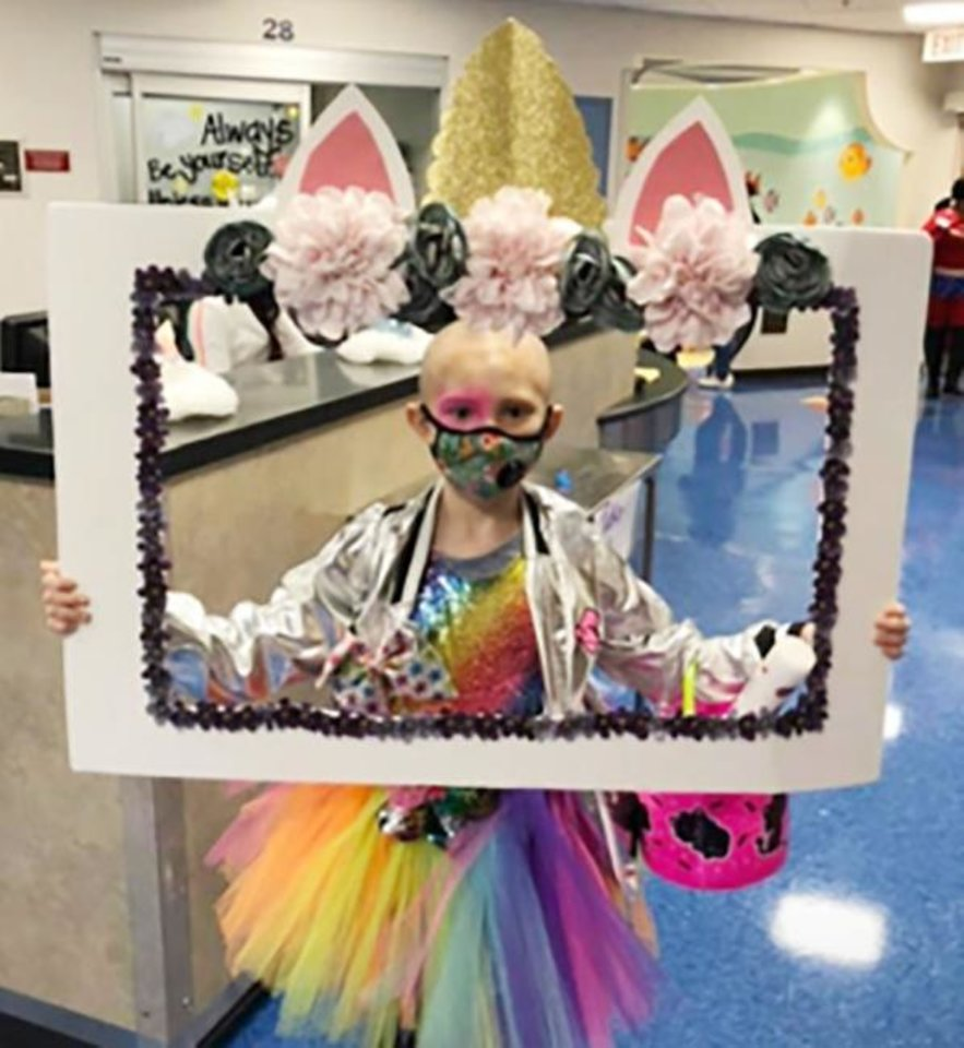 Photo -  Cindy Hazen, a Mustang Trails Elementary School first-grader, has been fighting cancer at St. Jude Children's Research Hospital since last year. Part of the proceeds raised during Mustang High School's Beast Week philanthropic event will benefit Cindy and her family. [PHOTO PROVIDED]