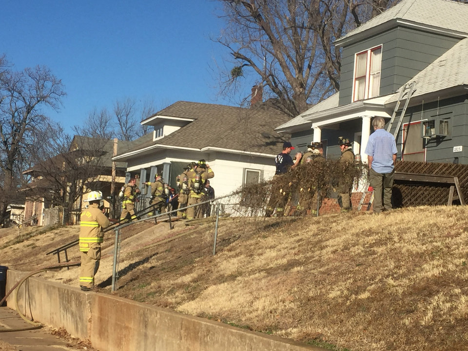 Photo -  An Oklahoma City woman died in a Friday house fire. [Photo by Robert Medley, The Oklahoman]