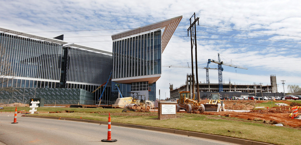 Photo - Construction on the Chesapeake campus along Classen Boulevard near NW 59 Street in Oklahoma City.