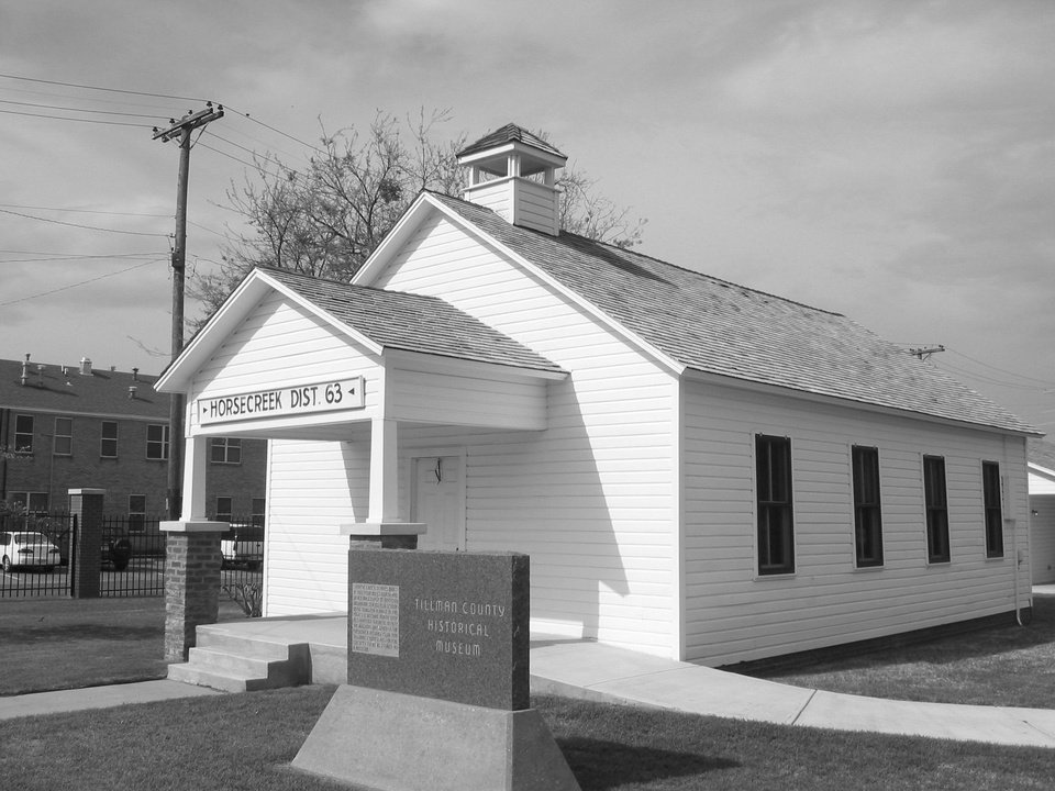 Photo - The 1902 Horse Creek School is on display at the Pioneer Townsite in Frederick.
