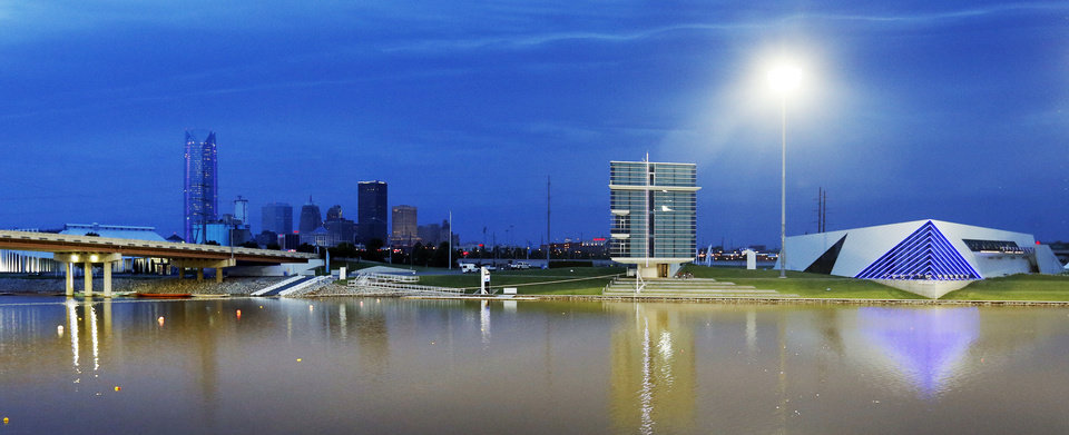 The Oklahoma River and downtown are casting a new image for Oklahoma City, but the revival isn't without critics. PHOTO BY NATE BILLINGS, THE OKLAHOMAN <strong>NATE BILLINGS</strong>