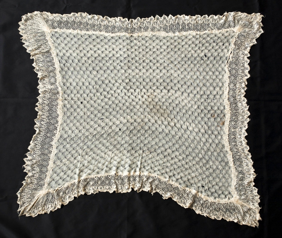Photo - This undated handout photo provided by the Smithsonian shows Harriet Tubman's shawl, part of an exhibit