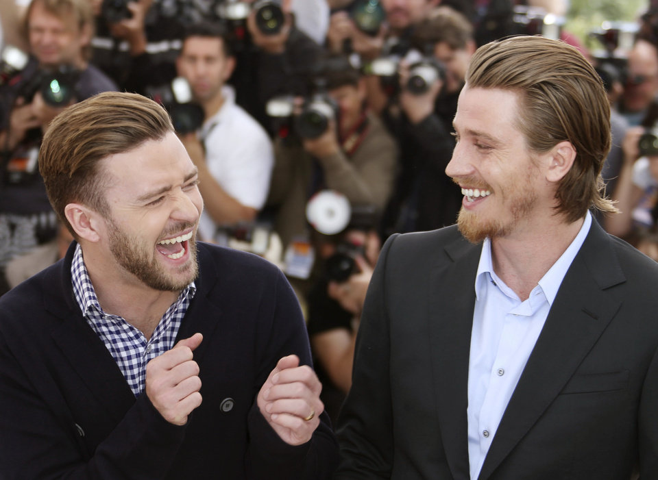 Photo - Actors Justin Timberlake and Garrett Hedlund during a photo call for the film Inside Llewyn Davis at the 66th international film festival, in Cannes, southern France, Sunday, May 19, 2013. (Photo by Joel Ryan/Invision/AP)