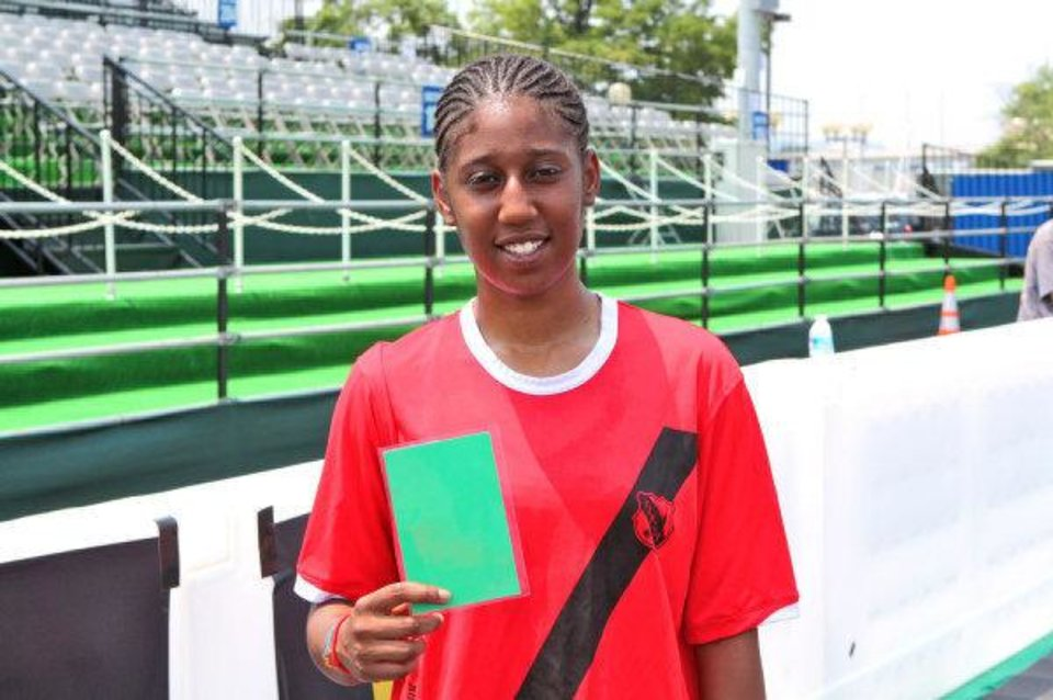 Photo - Rudy Crenshaw was selected for the USA's Homeless World Cup soccer team for her play at the Street Soccer USA National Cup in Washington, D.C. last summer. In that tournament she also received a