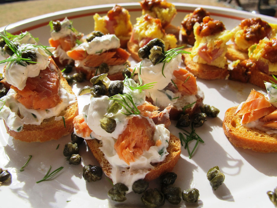 Photo - Try Seattle Sea-Lox on toast and Denver Omelet on toast to round out your Super Bowl spread.  DAVE CATHEY - THE OKLAHOMAN