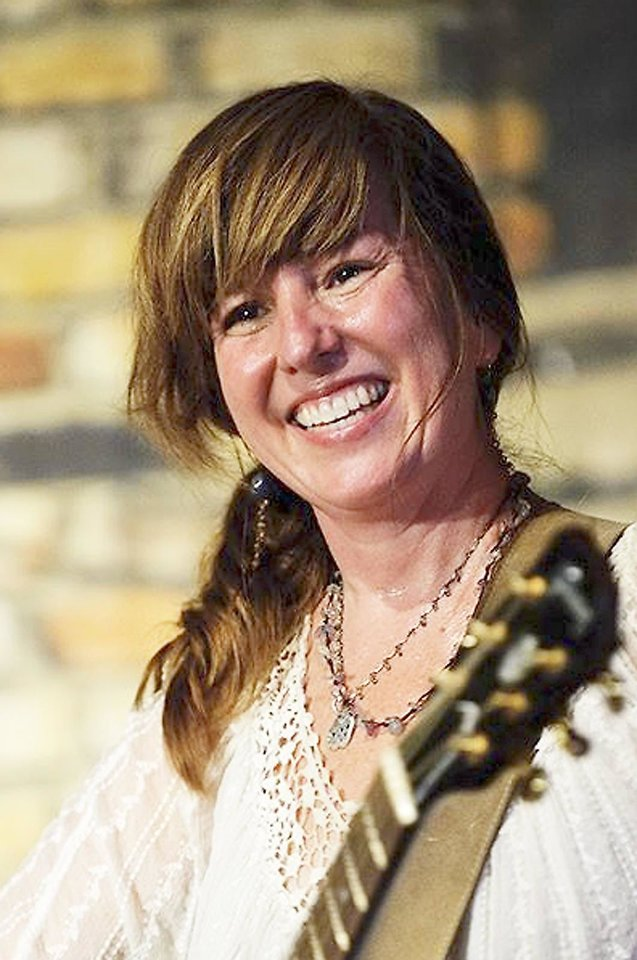 Okemah singer-songwriter Susan Herndon performs at the 2012 Woody Guthrie Folk Festival in Okemah back in July. Photo provided by Vicki Farmer. <strong></strong>