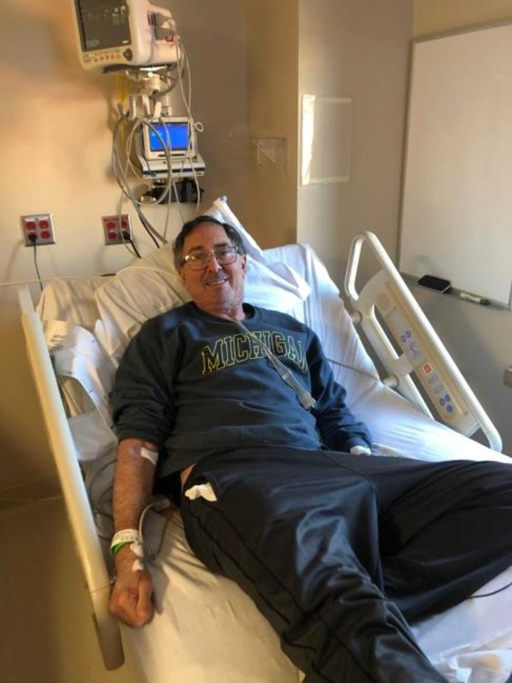 Photo -  Carl Goldman, a former Diamond Princess cruise passenger, is being held in a biocontainment unit in Nebraska after testing positive for COVID-19.