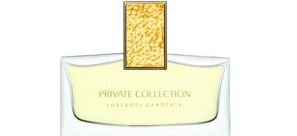 Estee Lauder Private Collection Tuberose Gardenia Parfum floral fragrance comes from a top note of neroli combined with the sublime clarity of lilac and opulent rosewood; middle notes of fresh orangeflower, indulgent jasmine and intriguing white lily and a hint of carnation with touches of the finest grade vanilla bourbon. Photo provided. imtech