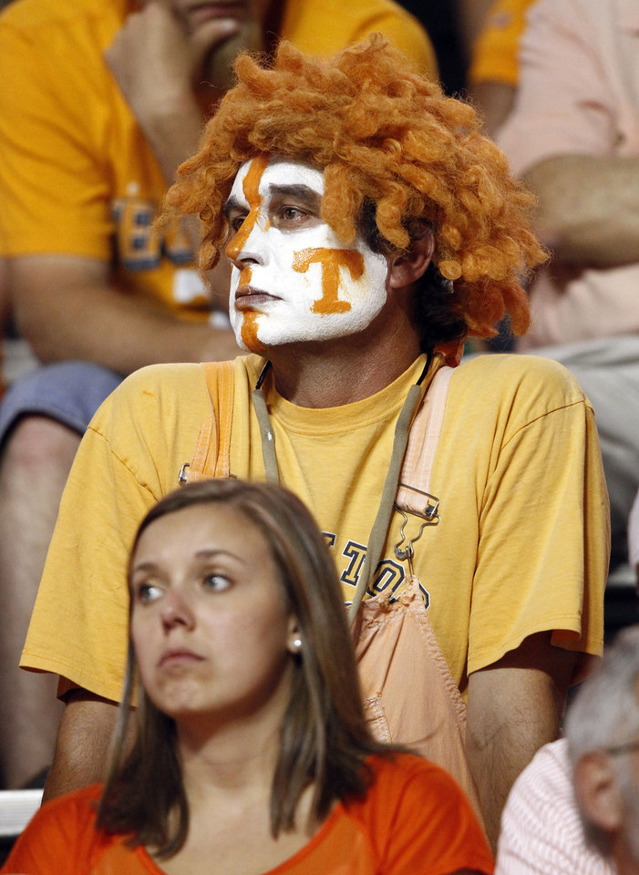 Photo -   Tennessee fans look on in the fourth quarter of an NCAA college football game against Florida on Saturday, Sept. 15, 2012, in Knoxville, Tenn. Florida won 37-20. (AP Photo/Wade Payne)