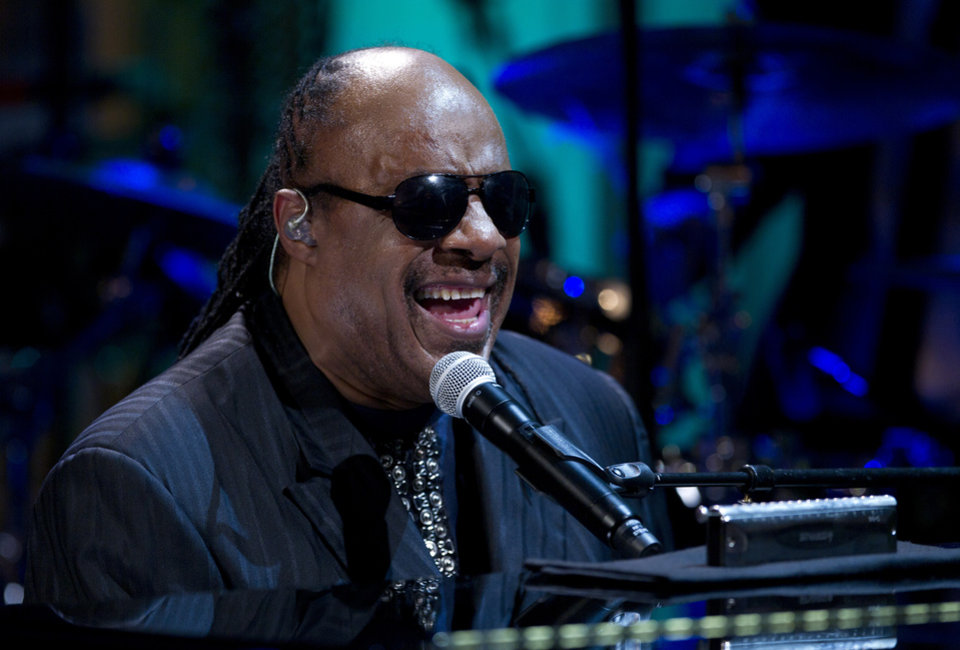 FILE - In a Wednesday, May 9, 2012 file photo, Stevie Wonder performs during the