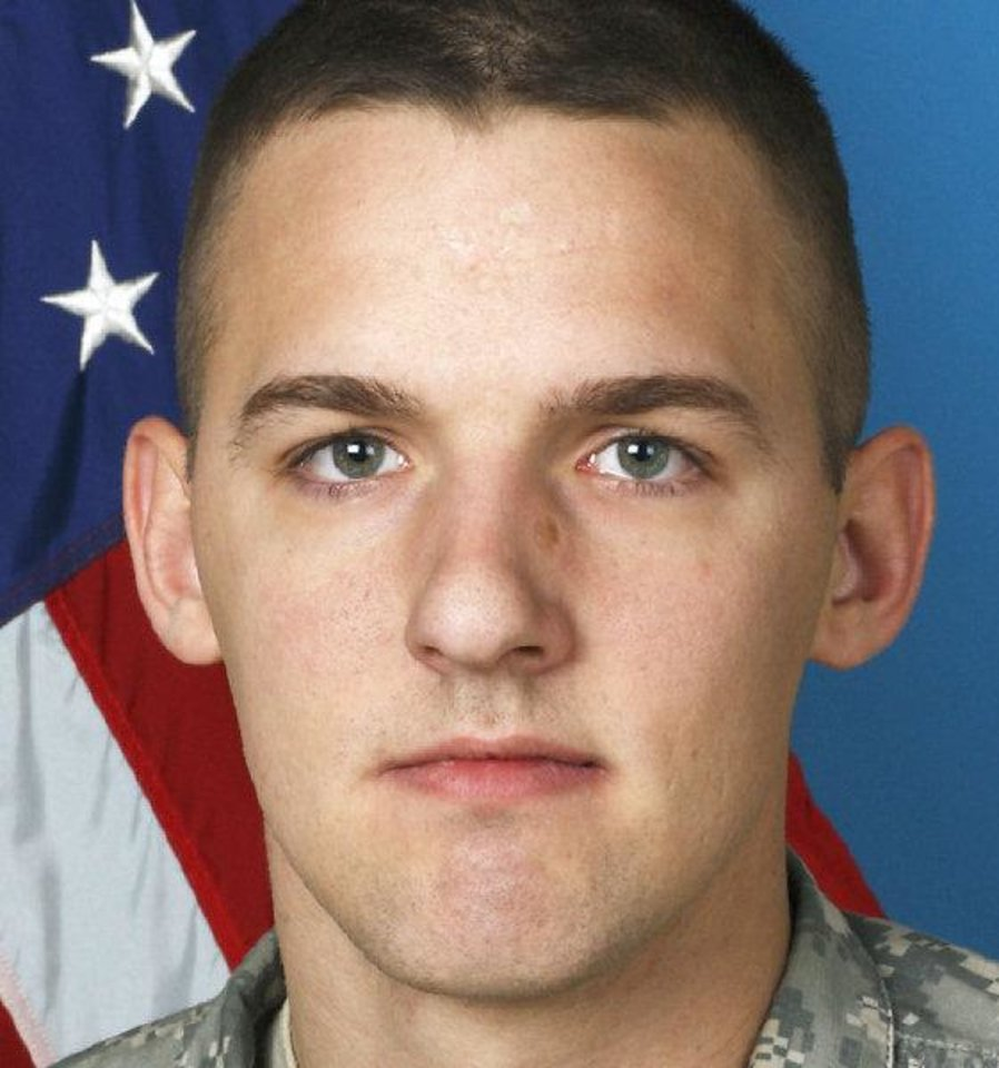 Photo - Spc. Augustus  J. Vicari, 22,  of Broken Arrow, was killed July 29 by an improvised explosive device while on patrol in Janak Kheyl in eastern Afghanistan.  PROVIDED - provided