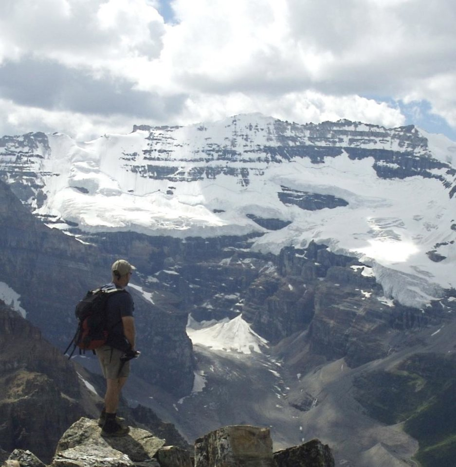 Stephen Hance of Oklahoma City in the Canadian Rockies at Mt. Victoria, Alberta, Canada. Photo provided