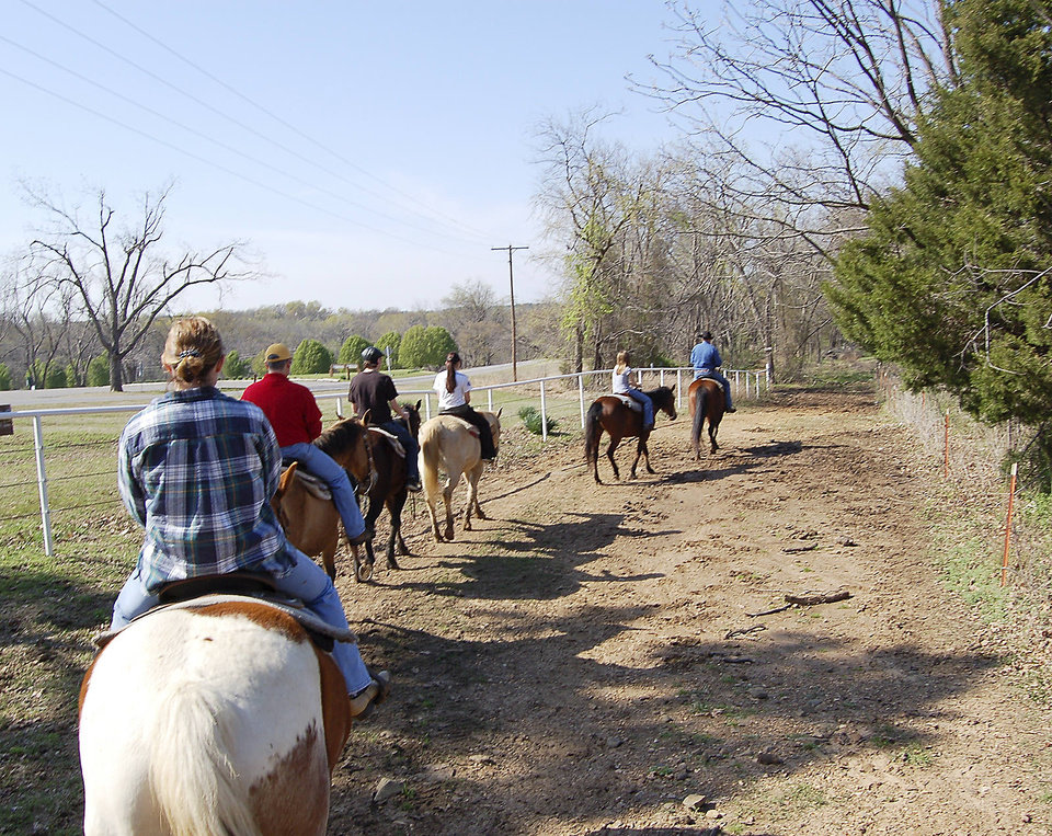 Photo - Saddle up for a spring break trail ride at Sequoyah State Park stables. PHOTO PROVIDED.