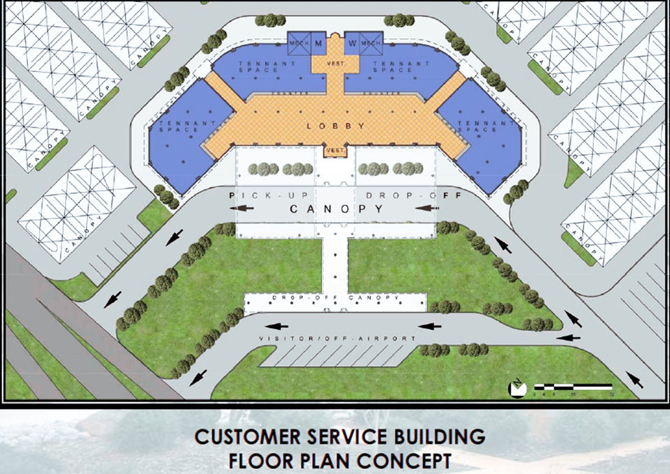 Photo - This illustration shows a proposed rental car facility at Will Rogers World Airport. IMAGE PROVIDED BY WILL ROGERS WORLD AIRPORT