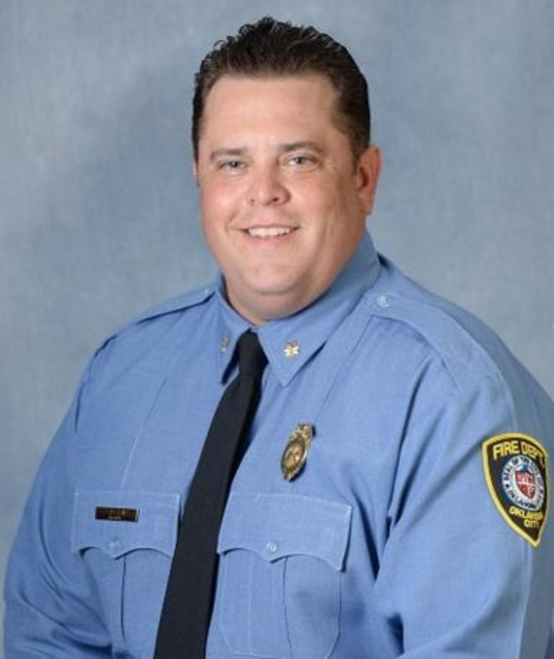 Photo -  Maj. Andy Davis was the first Oklahoma City firefighter to die from COVID-19. [PHOTO PROVIDED]