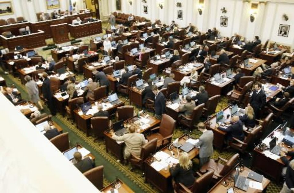 The Oklahoma House meets in chambers in this 2011 photo by Paul Hellstern.