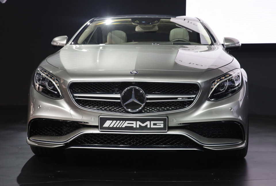 Photo - The 2015 Mercedes Benz S63 AMG Coupe is introduced  at the 2014 New York International Auto Show at the Javits Convention Center, Wednesday, April 16, 2014, in New York. (AP Photo/Richard Drew)