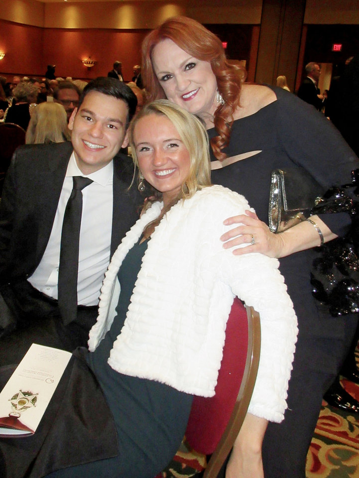 Photo - Mauricio Scott, Alex Drummond, Ree Drummond. PHOTO BY HELEN FORD WALLACE, THE OKLAHOMAN