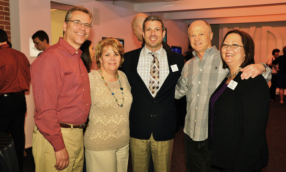 Left: Steve and Beth Kerr, Michael Baron, David Flesher, Pam Mowry.