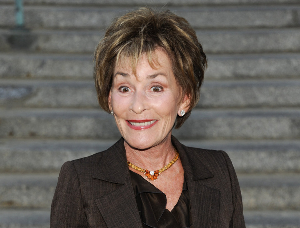 FILE - In this April 17, 2012 file photo, Judge Judy Sheindlin attends the Vanity Fair Tribeca Film Festival party at the State Supreme Courthouse in New York.