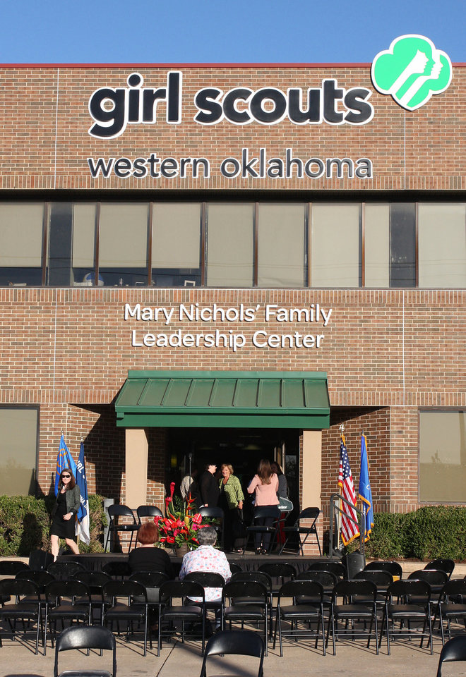 The Mary Nichols Family Leadership Center was recently dedicated at the Girl Scouts Western Oklahoma headquarters. PHOTO BY DAVID FAYTINGER, FOR THE OKLAHOMAN  <strong></strong>