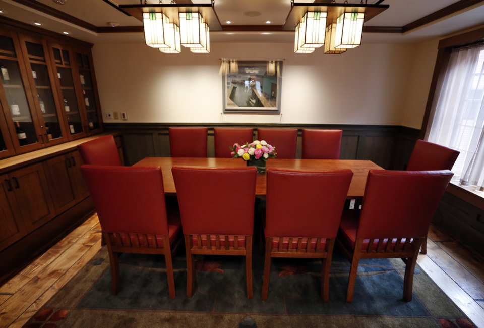 The remodeled Crawford University Club has a private dining area and wine room in the Memorial Student Union of the University of Oklahoma (OU) on Tuesday, April 9, 2013 in Norman, Okla.  Photo by Steve Sisney, The Oklahoman
