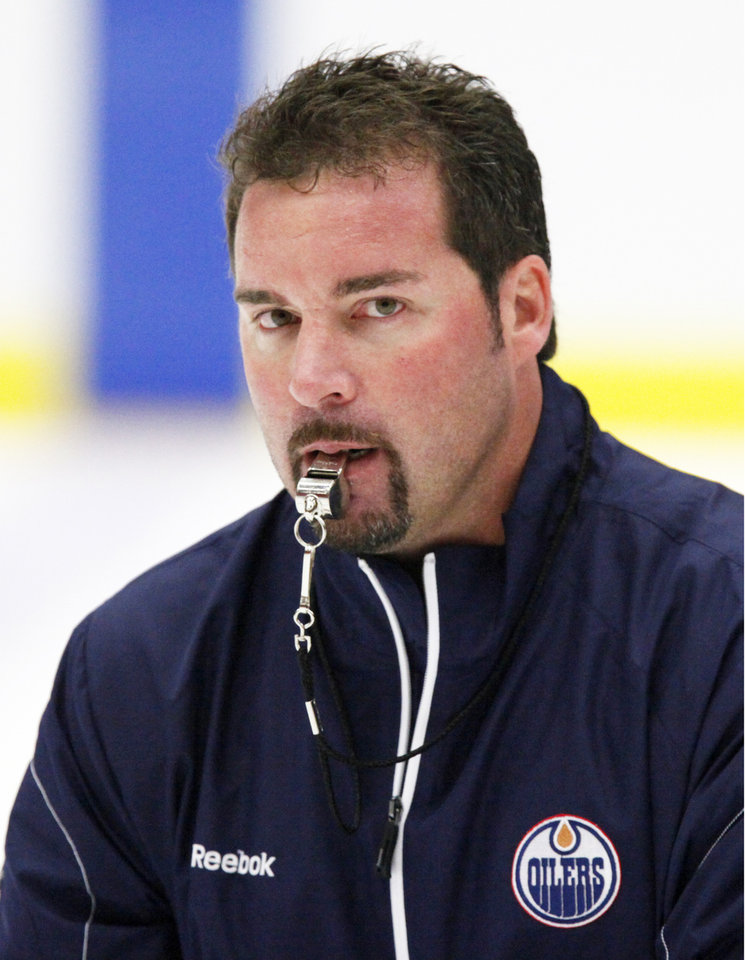 Barons coach Todd Nelson scored one NHL goal. Photo by Steve Gooch, The Oklahoman