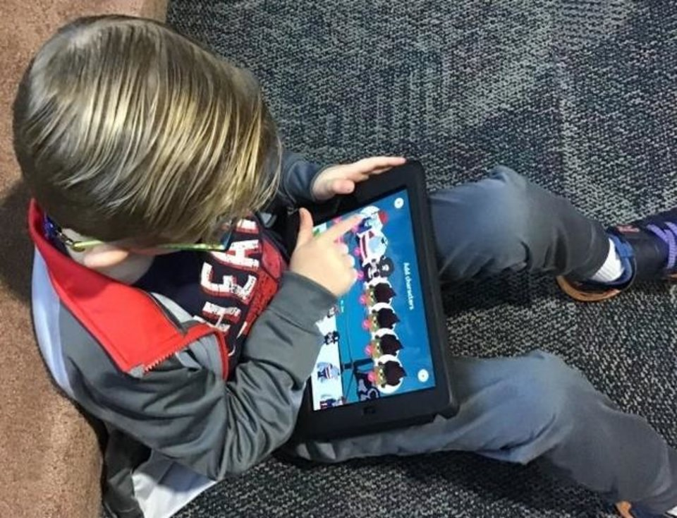 Photo -  In addition to helping a Moore elemetary school teacher obtain iPads, OG&E offers matching dollars to fund STEM (science, technology, engineering and math) and reading-related projects for classrooms.   [Provided]