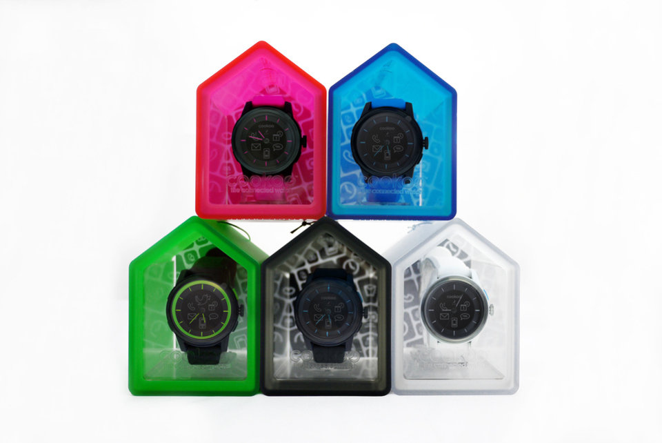 Photo - The new COOKOO watch is a smart watch that interacts with your mobile device. PHOTO PROVIDED.