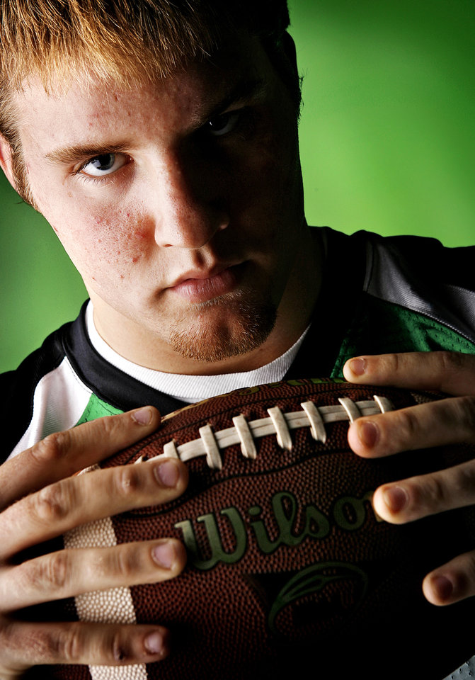 McGuinness High School's Kurt Baldwin All Little City and All State Defensive Lineman. 