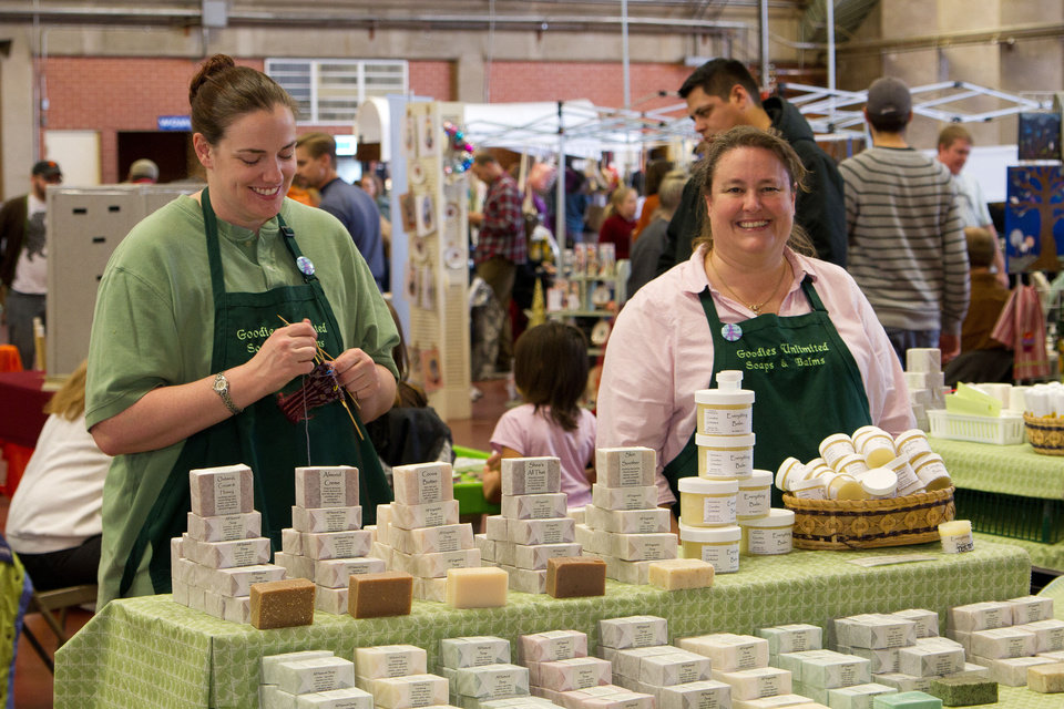 Photo - Vendors participate in last year's Deluxe Indie Craft Bazaar. The annual show returns Saturday at State Fair Park.   - PROVIDED