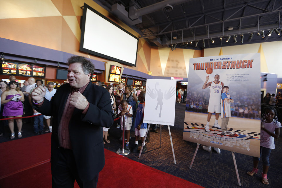 Director John Whitesell answers questions during the red carpet premiere of Thunderstruck at Harkins Bricktown Theatre in Oklahoma City, Sunday, Aug. 19, 2012.  Photo by Garett Fisbeck, For The Oklahoman