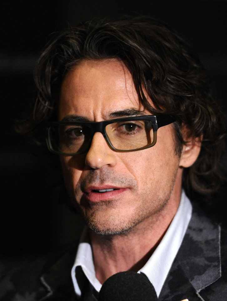 "Actor Robert Downey Jr. attends The Cinema Society screening of ""Due Date"" in New York, on Monday, Nov. 1, 2010.  (AP Photo/Peter Kramer) ORG XMIT: NYPK102"
