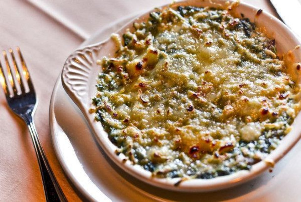 Creamed Spinach at Boulevard Steakhouse in Edmond. Photo by Chris Landsberger, The Oklahoman. <strong>CHRIS LANDSBERGER</strong>