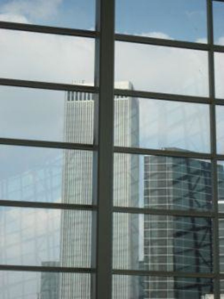 Photo -  Looking outside the icon wall at BOK Center