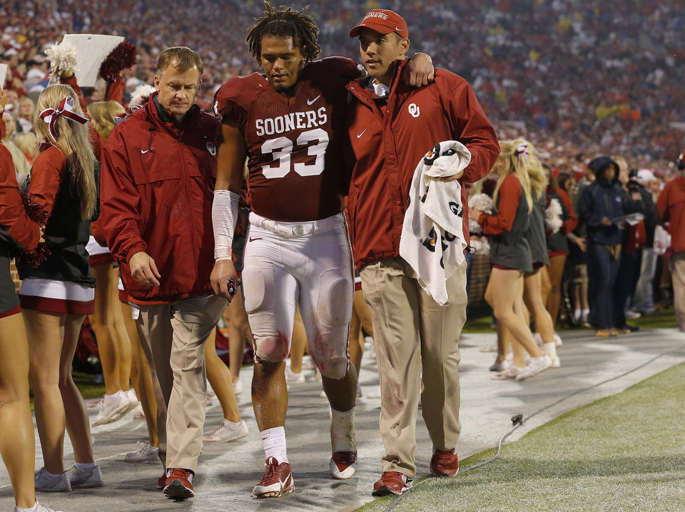 Trey Millard suffered a season-ending knee injury Oct. 26 against Texas Tech. Photo by Bryan Terry, The Oklahoman