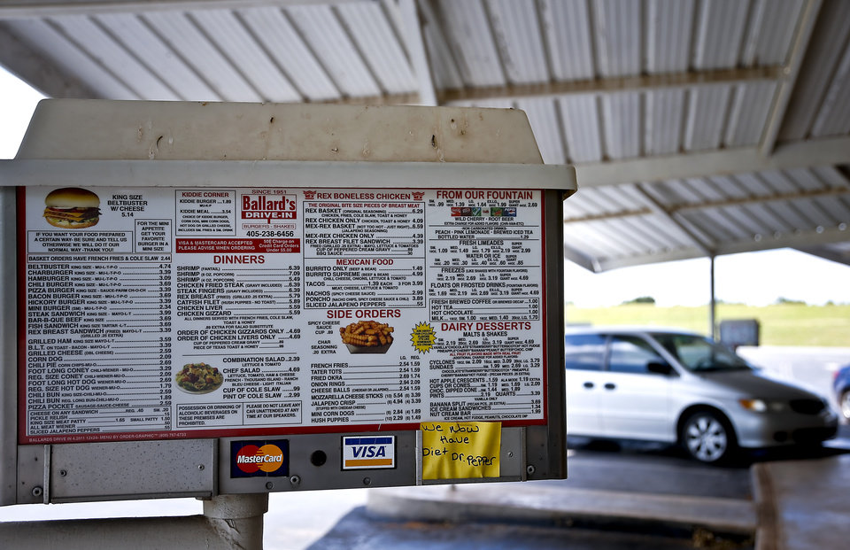 Photo - Ballard's Drive-In located in Pauls Valley, Okla. Monday, July 16, 2012.   Photo by Chris Landsberger, The Oklahoman