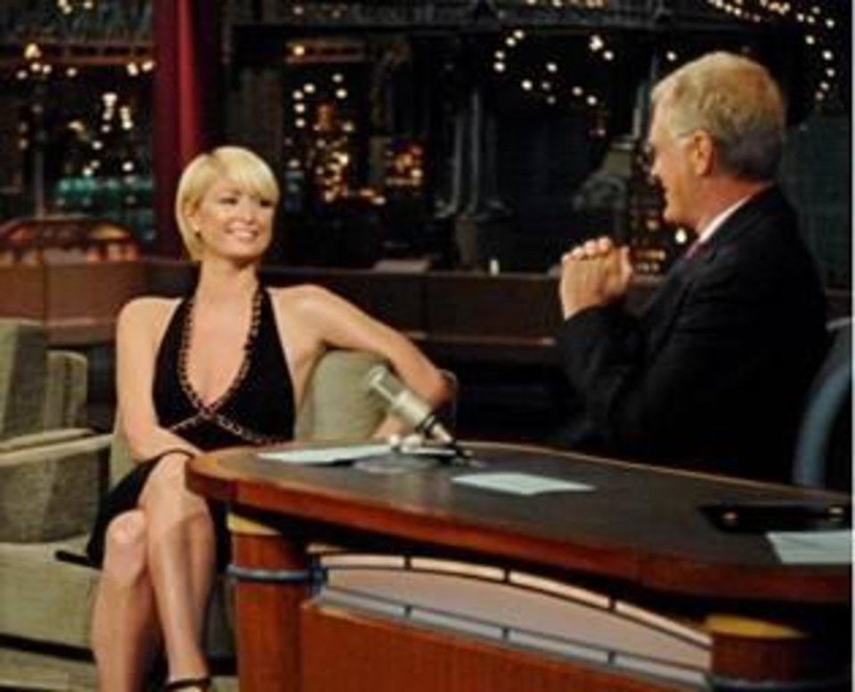 Paris Hilton on CBS's Late Night With David Letterman