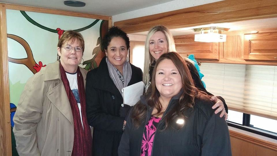 Photo -  Bonnie McBee, Board Member; Maria Rosales-Lambert, Program Director/Bilingual Interviewer; Vicki Boan, Forensic Interviewer and Melissa Hill, Family Advocate of Oklahoma Interviewing Services. [photo provided]
