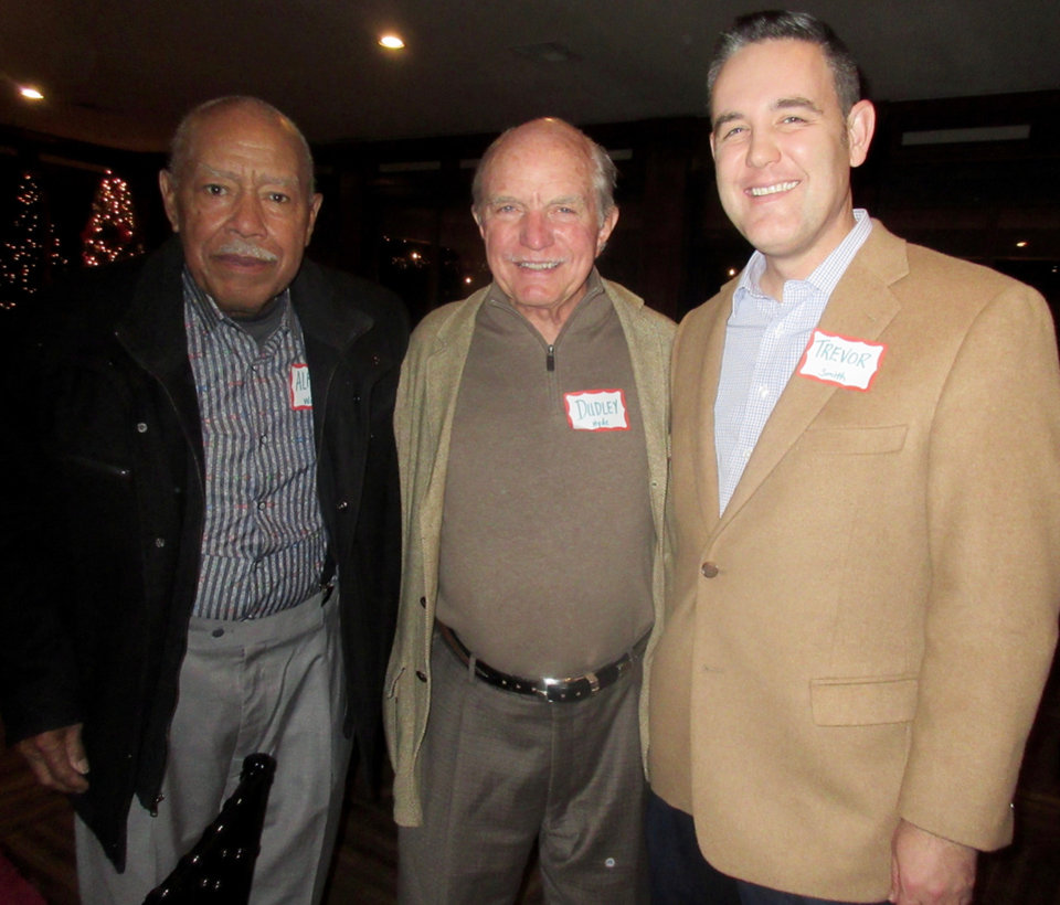 Photo -  Alfred Walker, Dudley Hyde and Trevor Smith. [PHOTO BY HELEN FORD WALLACE, THE OKLAHOMAN]